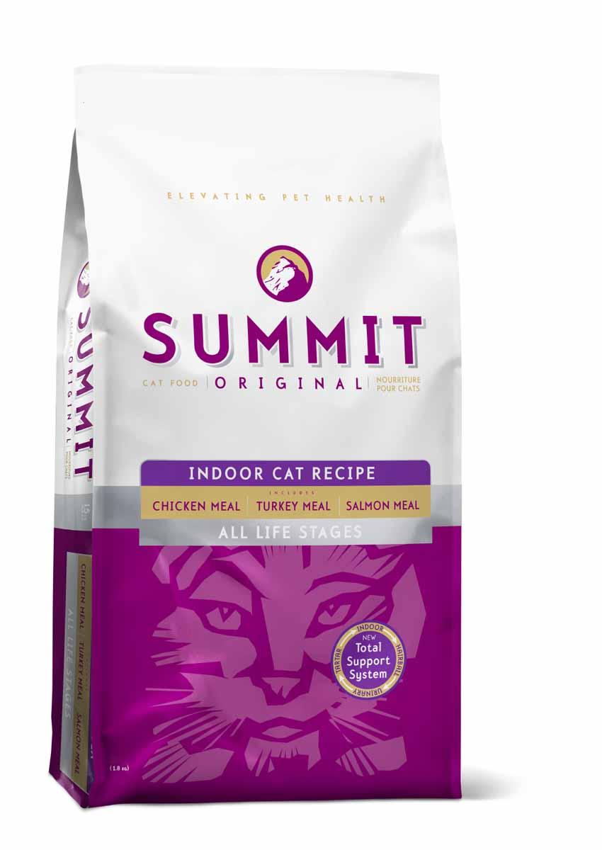 Summit holistic Для домашних кошек три вида мяса с цыпленком, лососем и индейкой - все стадии жизни (Original 3 Meat, Indoor Cat Recipe CF), 1,8 кг.20366Summit Holistic - супер-премиум корм из Канады Все стадии жизни. Оригинальный рецепт для котят и кошек был создан с исключительным подбором ингредиентов премиум-класса, для восхитительного вкуса и исключительных преимущества для здоровья, в том числе помощь в предотвращении вывода шерсти. При изготовлении Summit Holistic используется уникальное сочетание высококачественных ингредиентов, которые обеспечивают исключительно натуральный вкус и максимальную питательную ценность. Summit Holistic содержит только качественные ингредиенты от давно зарекомендовавших себя фермерских хозяйств компании Petcurean (производители холистик кормов GO! и NOW! Natural). Не содержит субпродуктов, искусственных красителей, сои, кукурузы, мясных ингредиентов, выращенных на гормонах. Состав: дегидрированное мясо цыпленка, цельный коричневый рис, овсянка, картофель, горох, куриный жир (консервированный токоферолами), натуральный куриный ароматизатор, дегидрированное мясо лосося,...