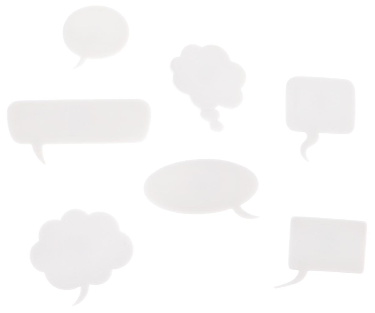 Пуговицы декоративные Dress It Up Для ваших слов, 7 шт7713477Набор Dress It Up Для ваших слов состоит из 7 декоративных пуговиц, выполненных из высококачественного пластика в виде облаков раздумья. На оборотной стороне изделие оснащено петелькой. Такие пуговицы подходят для любых видов творчества: скрапбукинга, декорирования, шитья, изготовления кукол, а также для оформления одежды. С их помощью вы сможете украсить открытку, фотографию, альбом, подарок и другие предметы ручной работы. Все пуговицы в наборе имеют оригинальный и яркий дизайн. Средний размер пуговиц: 2,4 см х 2 см х 0,5 см.