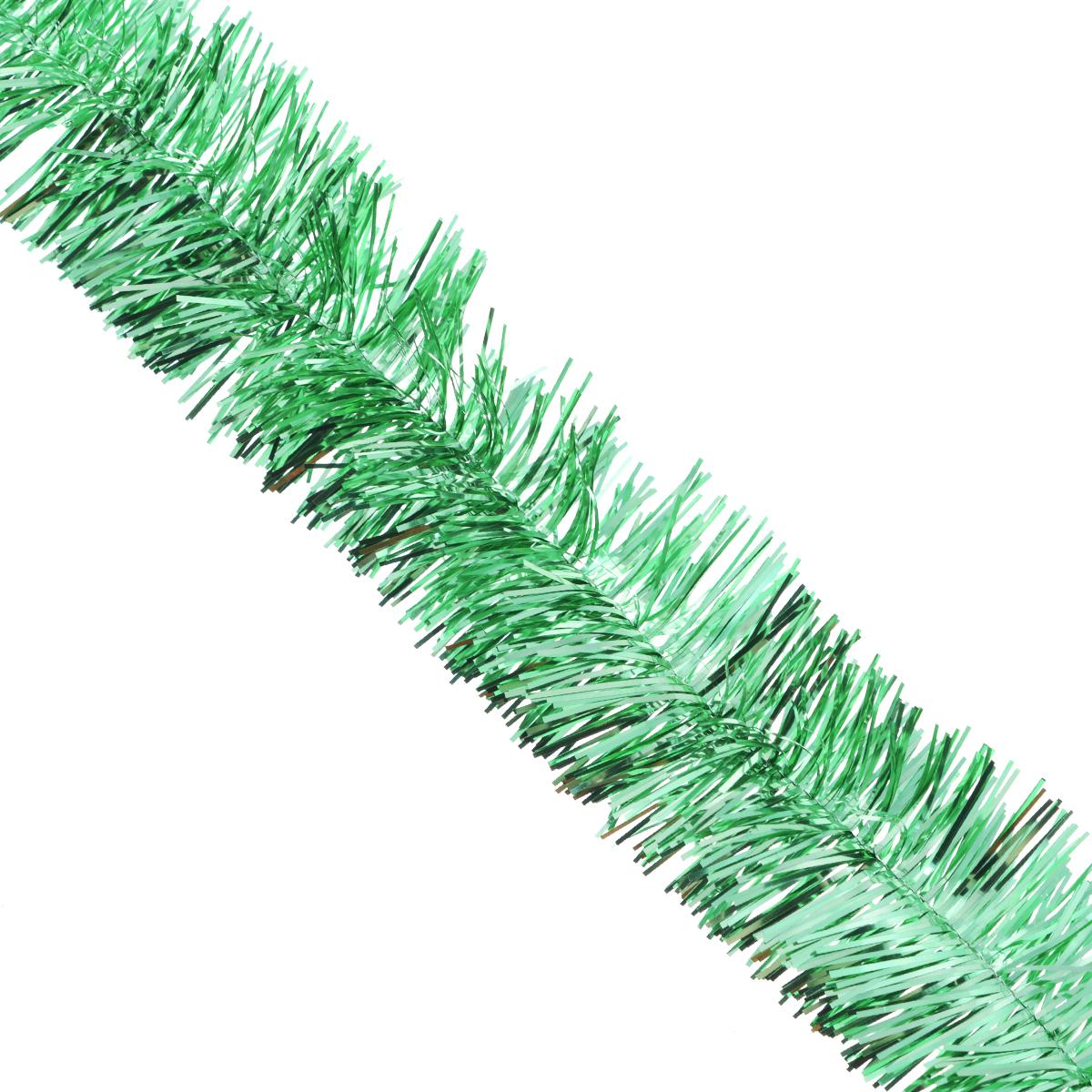 Мишура новогодняя Sima-land, цвет: серебристый, зеленый, диаметр 4 см, длина 138 см. 701305701305_серебристый, зеленыйНовогодняя мишура Sima-land, выполненная из фольги, поможет вам украсить свой дом к предстоящим праздникам. А новогодняя елка с таким украшением станет еще наряднее. Мишура армирована, то есть имеет проволоку внутри и способна сохранять любую форму, которую вы ей придадите. Новогодней мишурой можно украсить все, что угодно - елку, квартиру, дачу, офис - как внутри, так и снаружи. Можно сложить новогодние поздравления, буквы и цифры, мишурой можно украсить и дополнить гирлянды, можно выделить дверные колонны, оплести дверные проемы.