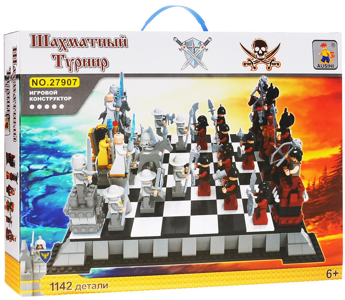 Ausini Конструктор Шахматы 2790727907Конструктор Ausini Шахматы состоит из 1142 элементов, с помощью которых ребенок сможет построить большую шахматную доску с фигурками человечков вместо шахмат. Игра в шахматы превращается в настоящее развлечение, теперь шахматные ходы предстают, как настоящие битвы между двумя войсками. Детали конструктора легко соединяются между собой, а также совместимы с конструкторами других марок. Малыш часами будет играть с этим конструктором, придумывая разные истории и комбинируя детали. Конструктор Ausini Шахматы - это замечательная развивающая игрушка, которая не только развлечет вашего ребенка, но и будет способствовать развитию мелкой моторики, тактильного и визуального восприятия, мышления, воображения, внимательности и усидчивости, а также познакомит его с основами моделирования и конструирования.