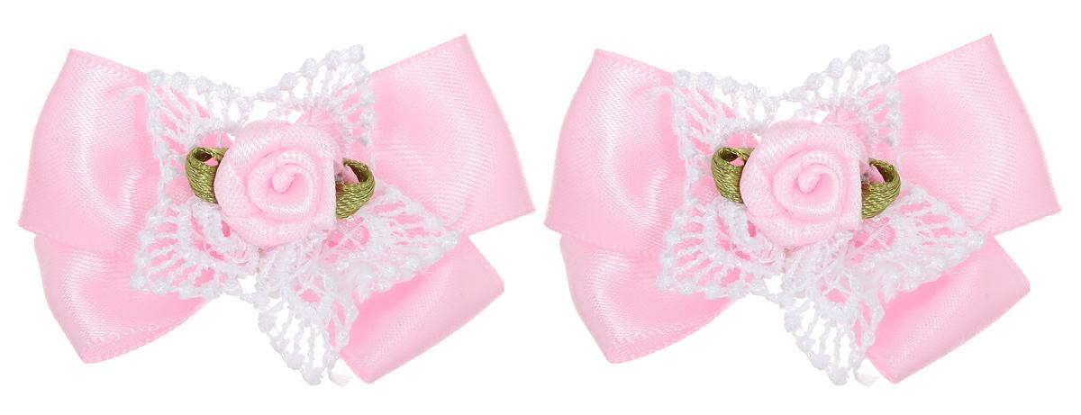 Бант-мини для младенцев Baby\'s Joy, цвет: розовый, 2 шт. MN 151m ( MN 151m_розовый/роза )