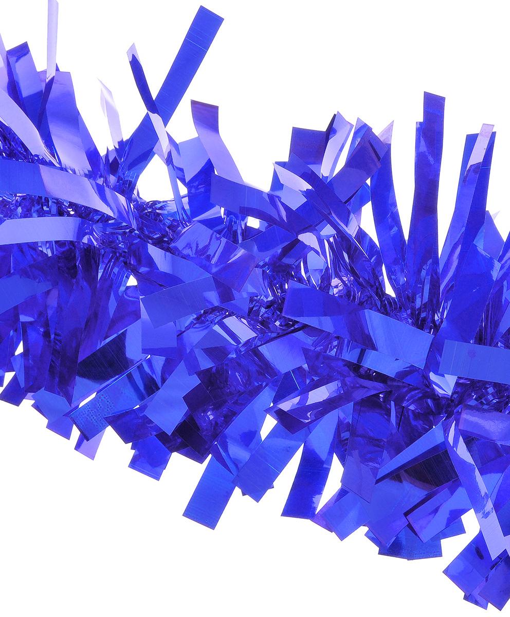 Мишура новогодняя EuroHouse Северное сияние, цвет: синий, диаметр11 см, длина 200 смЕХ7424_синийНовогодняя мишура EuroHouse Северное сияние, выполненная из ПЭТ (полиэтилентерефталата), поможет вам украсить свой дом к предстоящим праздникам. А новогодняя елка с таким украшением станет еще наряднее. Мишура армирована, то есть имеет проволоку внутри и способна сохранять придаваемую ей форму. Новогодней мишурой можно украсить все, что угодно - елку, квартиру, дачу, офис - как внутри, так и снаружи. Можно сложить новогодние поздравления, буквы и цифры, мишурой можно украсить и дополнить гирлянды, можно выделить дверные колонны, оплести дверные проемы.