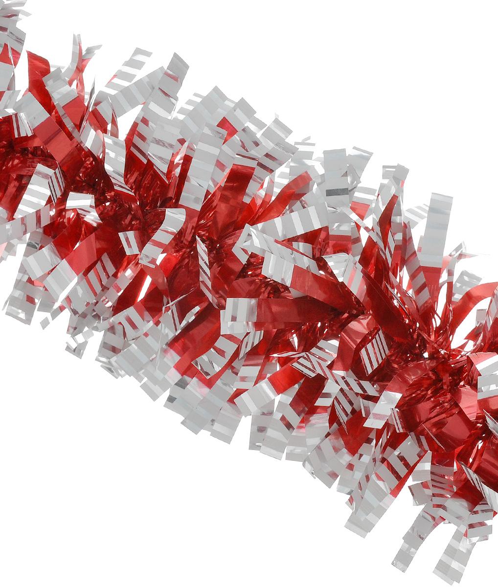 Мишура новогодняя Euro House, цвет: красный, серебристый, диаметр 9 см, длина 200 смЕХ7421_красный, серебристыйНовогодняя мишура Euro House, выполненная из полиэстера, поможет вам украсить свой дом к предстоящим праздникам. Новогодняя елка с таким украшением станет еще наряднее. Мишура армирована, то есть имеет проволоку внутри и способна сохранять придаваемую ей форму. Новогодней мишурой можно украсить все, что угодно - елку, квартиру, дачу, офис - как внутри, так и снаружи. Можно сложить новогодние поздравления, буквы и цифры, мишурой можно украсить и дополнить гирлянды, можно выделить дверные колонны, оплести дверные проемы.