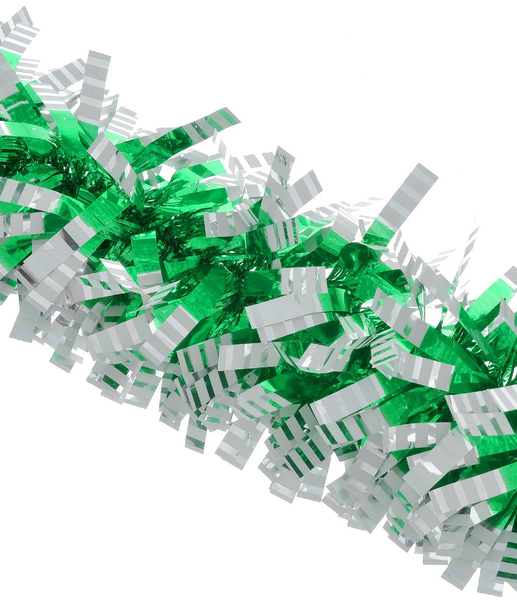 Мишура новогодняя Euro House, цвет: зеленый, диаметр 9 см, длина 200 смЕХ7421_зелёныйНовогодняя мишура Euro House, выполненная из полиэстера, поможет вам украсить свой дом к предстоящим праздникам. Новогодняя елка с таким украшением станет еще наряднее. Мишура армирована, то есть имеет проволоку внутри и способна сохранять придаваемую ей форму. Новогодней мишурой можно украсить все, что угодно - елку, квартиру, дачу, офис - как внутри, так и снаружи. Можно сложить новогодние поздравления, буквы и цифры, мишурой можно украсить и дополнить гирлянды, можно выделить дверные колонны, оплести дверные проемы.