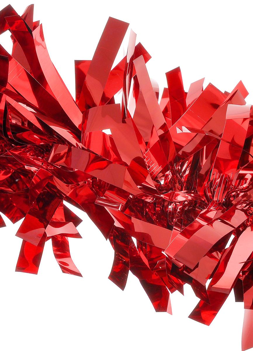 Мишура новогодняя EuroHouse Северное сияние, цвет: красный, диаметр 11 см, длина 200 смЕХ 7424Новогодняя мишура EuroHouse Северное сияние, выполненная из ПЭТ (полиэтилентерефталата), поможет вам украсить свой дом к предстоящим праздникам. А новогодняя елка с таким украшением станет еще наряднее. Мишура армирована, то есть имеет проволоку внутри и способна сохранять придаваемую ей форму. Новогодней мишурой можно украсить все, что угодно - елку, квартиру, дачу, офис - как внутри, так и снаружи. Можно сложить новогодние поздравления, буквы и цифры, мишурой можно украсить и дополнить гирлянды, можно выделить дверные колонны, оплести дверные проемы.