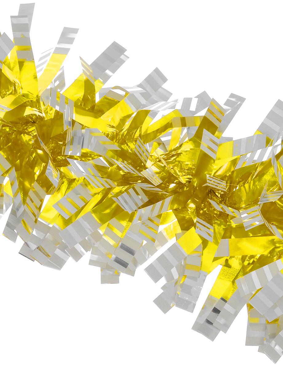 Мишура новогодняя Euro House, цвет: желтый, диаметр 9 см, длина 200 смЕХ 7421Новогодняя мишура Euro House, выполненная из полиэстера, поможет вам украсить свой дом к предстоящим праздникам. Новогодняя елка с таким украшением станет еще наряднее. Мишура армирована, то есть имеет проволоку внутри и способна сохранять придаваемую ей форму. Новогодней мишурой можно украсить все, что угодно - елку, квартиру, дачу, офис - как внутри, так и снаружи. Можно сложить новогодние поздравления, буквы и цифры, мишурой можно украсить и дополнить гирлянды, можно выделить дверные колонны, оплести дверные проемы.