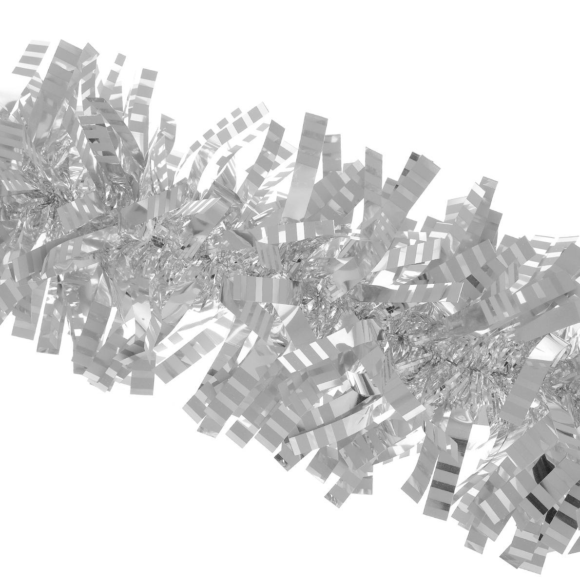 Мишура новогодняя Euro House, цвет: серебристый, диаметр 9 см, длина 200 смЕХ7421_серебристыйНовогодняя мишура Euro House, выполненная из полиэстера, поможет вам украсить свой дом к предстоящим праздникам. Новогодняя елка с таким украшением станет еще наряднее. Мишура армирована, то есть имеет проволоку внутри и способна сохранять придаваемую ей форму. Новогодней мишурой можно украсить все, что угодно - елку, квартиру, дачу, офис - как внутри, так и снаружи. Можно сложить новогодние поздравления, буквы и цифры, мишурой можно украсить и дополнить гирлянды, можно выделить дверные колонны, оплести дверные проемы.