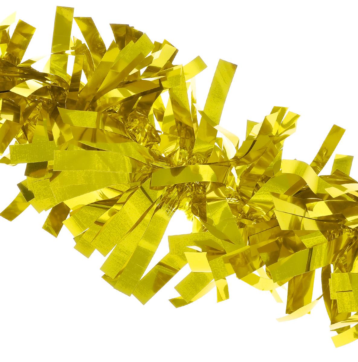 Мишура новогодняя EuroHouse Северное сияние, цвет: золотистый, диаметр 11 см, длина 200 смЕХ7424_золотойНовогодняя мишура EuroHouse Северное сияние, выполненная из ПЭТ (полиэтилентерефталата), поможет вам украсить свой дом к предстоящим праздникам. А новогодняя елка с таким украшением станет еще наряднее. Мишура армирована, то есть имеет проволоку внутри и способна сохранять придаваемую ей форму. Новогодней мишурой можно украсить все, что угодно - елку, квартиру, дачу, офис - как внутри, так и снаружи. Можно сложить новогодние поздравления, буквы и цифры, мишурой можно украсить и дополнить гирлянды, можно выделить дверные колонны, оплести дверные проемы.