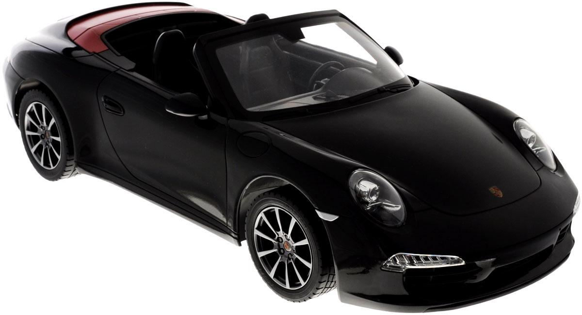 Rastar Радиоуправляемая модель Porsche 911 Carrera S цвет черный красный47700_чёрный/красныйРадиоуправляемая модель Rastar Porsche 911 Carrera S станет отличным подарком любому мальчику! Все дети хотят иметь в наборе своих игрушек ослепительные, невероятные и крутые автомобили на радиоуправлении. Тем более, если это автомобиль известной марки с проработкой всех деталей, удивляющий приятным качеством и видом. Одной из таких моделей является автомобиль на радиоуправлении Rastar Porsche 911 Carrera S. Это точная копия настоящего авто в масштабе 1:12. Авто обладает неповторимым провокационным стилем и спортивным характером. Потрясающая маневренность, динамика и покладистость - отличительные качества этой модели. Возможные движения: вперед, назад, вправо, влево, остановка. Имеются световые эффекты. Пульт управления работает на частоте 27 MHz. Для работы игрушки необходимы 5 батареек типа АА (не входят в комплект). Для работы пульта управления необходима 1 батарейка 9V (6F22) (не входит в комплект).