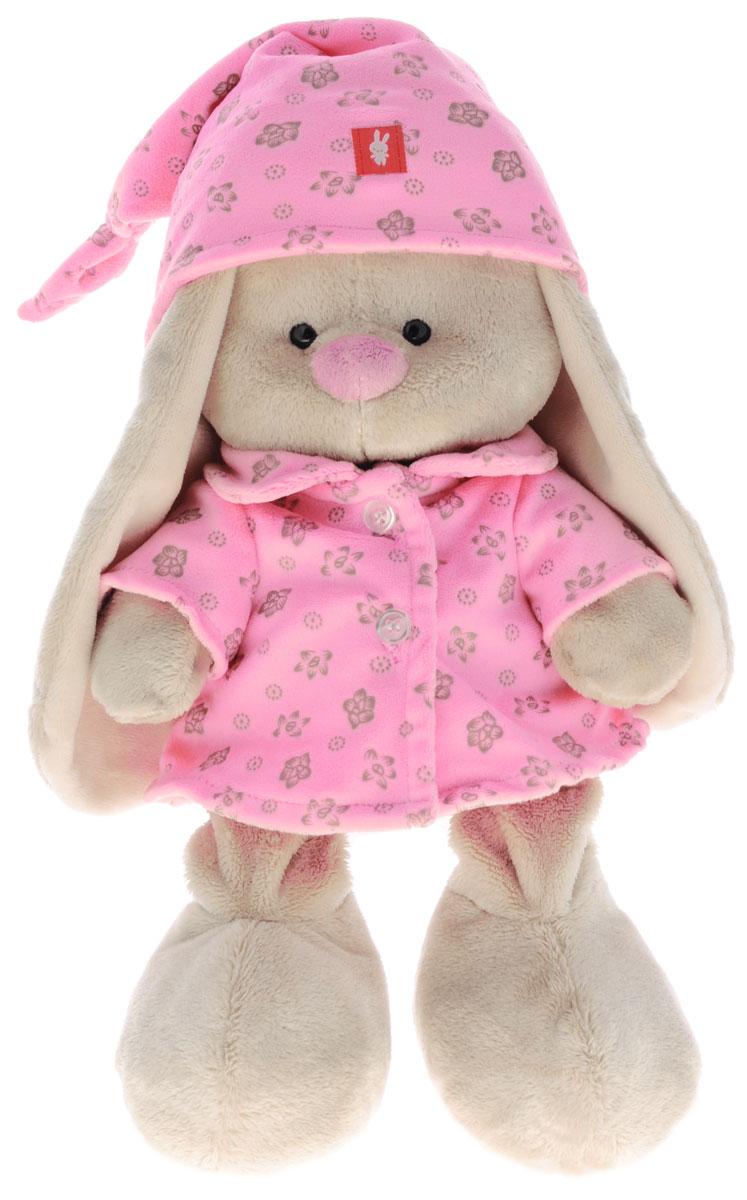 Мягкая игрушка Зайка Ми в пижаме цвет розовый 23 смSidM-070Мягкая игрушка Зайка Ми подарит малышу немало прекрасных мгновений. Мягкая игрушка изготовлена на основе сказочных образов двух зайчиков. Зайки Мика и Мия похожи друг на друга, как две пуговки на одной рубашке. Поэтому все зовут их ЗайкаМи. Эти милые зайки необыкновенно творческие натуры и ни минуты не сидят без дела. Выбери своего Зайку, или собери их несколько вместе! У игрушки маленькие черные глазки, длинные мягкие ушки и симпатичный носик. На Зайке розовая, очень уютная детская пижамка и ночной колпачок из мягкого хлопка с цветочным принтом. Мягкие игрушки очень полезны для малышей, потому как весьма позитивно влияют на детскую нервную систему, прогоняя всевозможные страхи. Играя, малыш развивает фантазию и воображение, развивает тактильную чувствительность и хватательные рефлексы. Игрушка выполнена из нетоксичных гипоаллергенных материалов и содержит мелкие гранулы, способствующие развитию мелкой моторики у детей.