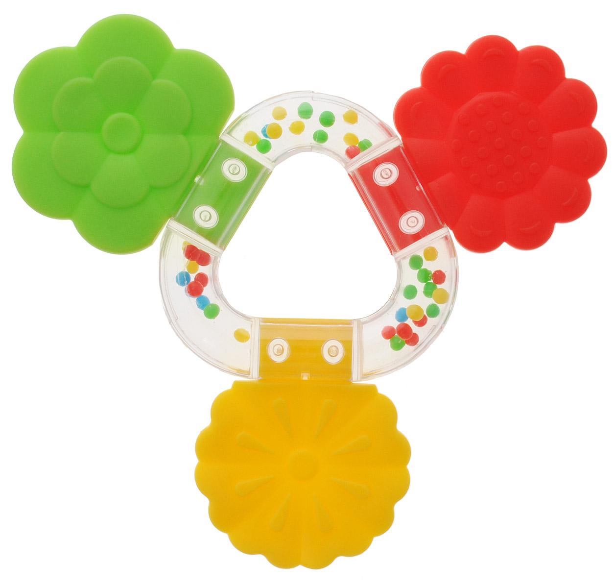 Stellar Погремушка-прорезыватель Букетик цвет желтый красный зеленый1563_желтый, красный, салатовыйПрорезыватель - одна из важных игрушек на этапе младенчества. Он помогает разрабатывать жевательные навыки и мимику. Погремушка-прорезыватель Stellar Букетик - яркая и интересная игрушка, которая займет малютку на долгое время, а вам позволит отдохнуть. Центральная часть игрушки наполнена цветными шариками, которые весело шумят при встряхивании. Малыш с удовольствием будет исследовать новую форму, наслаждаясь красивыми цветами.