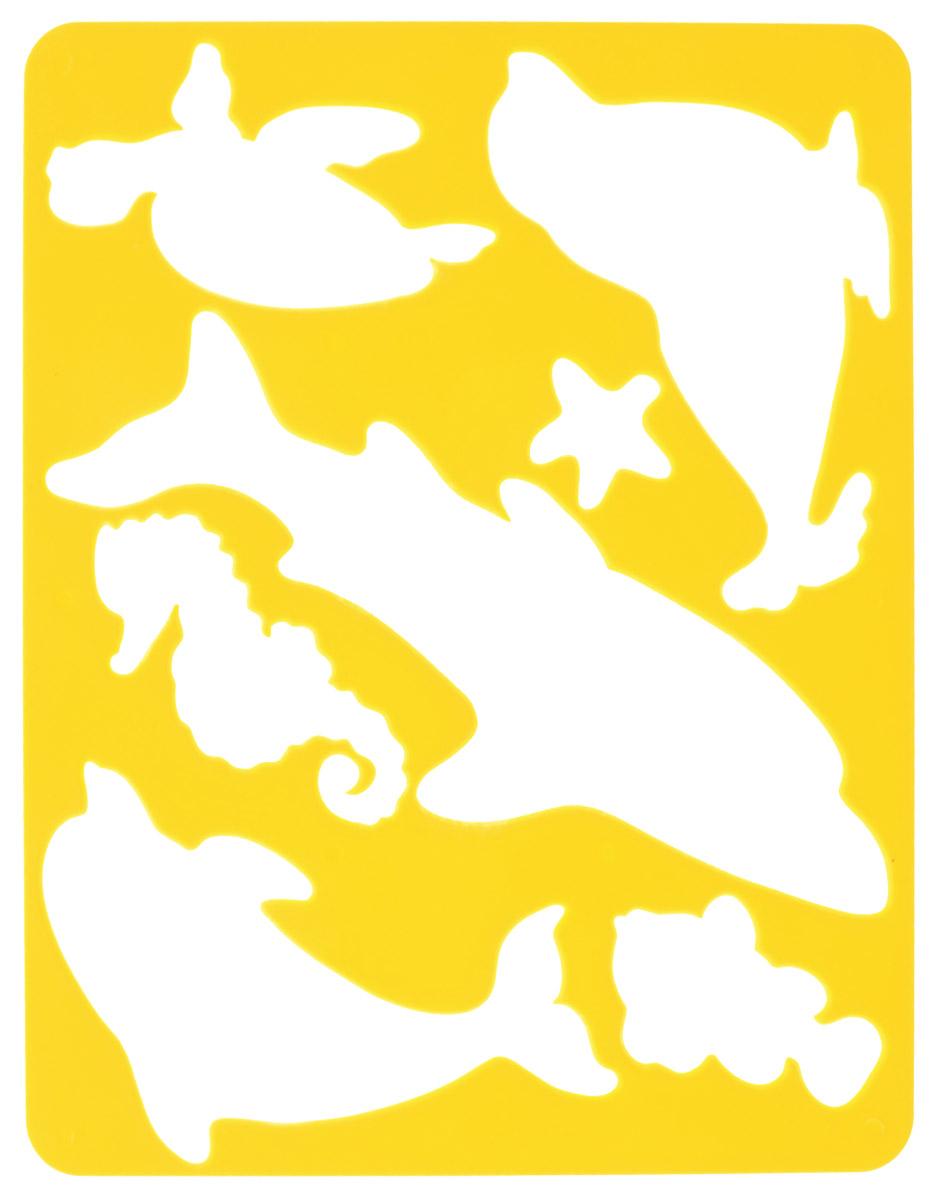 Луч Трафарет прорезной Морские обитатели цвет основы желтый9С 448-08_желтыйТрафарет Луч Морские обитатели, выполненный из безопасного пластика, предназначен для детского творчества. По трафарету маленький художник сможет нарисовать и познакомится с отдельными морскими обитателями, исследовать океан. Для этого необходимо положить трафарет на лист бумаги, обвести фигуру по контуру и раскрасить по своему вкусу или глядя на цветную картинку-образец. Трафареты предназначены для развития у детей мелкой моторики и зрительно-двигательной координации, навыков художественной композиции и зрительного восприятия.