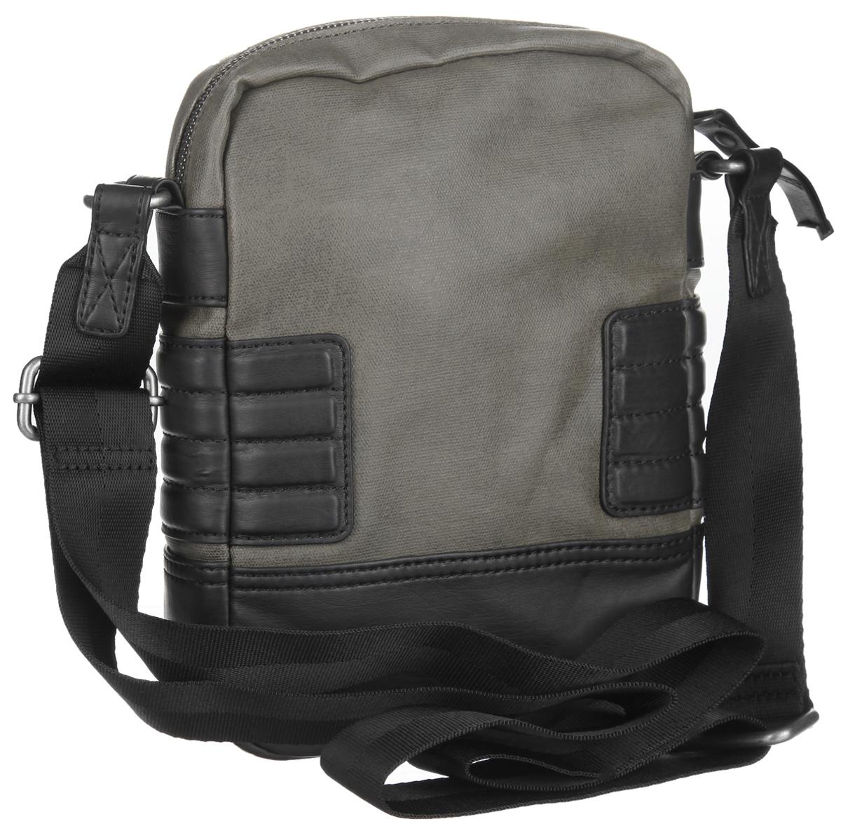 Сумка мужская Diesel, цвет: черный, хаки. X03023-PS888/T7434