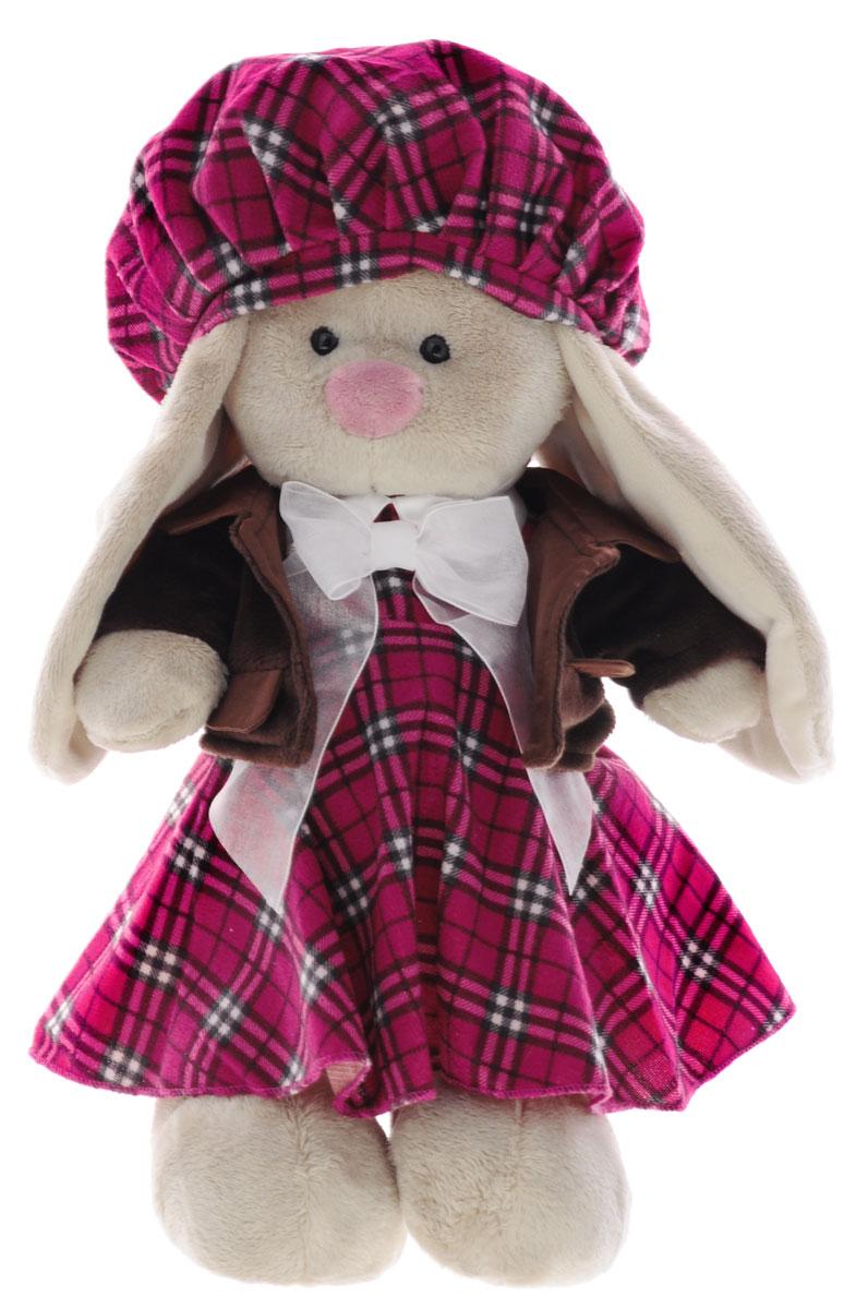 Мягкая игрушка Зайка Ми-девочка в Эдинбурге 32 смStM-084Мягкая игрушка Зайка Ми подарит малышу немало прекрасных мгновений. Мягкая игрушка изготовлена на основе сказочных образов двух зайчиков. Зайки Мика и Мия похожи друг на друга, как две пуговки на одной рубашке. Поэтому все зовут их ЗайкаМи. Эти милые зайки необыкновенно творческие натуры и ни минуты не сидят без дела. Выбери своего Зайку, или собери их несколько вместе! У игрушки маленькие черные глазки, длинные мягкие ушки и симпатичный носик. Лапки уплотнены, чтобы зайчик мог самостоятельно стоять. На Зайке платье из фланели красивого цвета ягодного пудинга в шотландскую клетку, оформленное белым атласным воротничком и белым бантом из органзы. В комплекте - меховая курточка шоколадного цвета с воротничком и кармашками из сатина. На голове у Зайки объемный берет в клетку с белым помпоном из плюша. Мягкие игрушки очень полезны для малышей, потому как весьма позитивно влияют на детскую нервную систему, прогоняя всевозможные страхи. Играя, малыш развивает...
