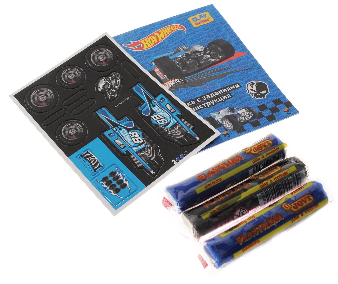 Giromax Набор для лепки Hot Wheels Машина цвет синий черный307595_синийНабор для лепки Giromax Hot Wheels: Машина позволит вашему ребенку создать поделку в виде синей гоночной машинки. Набор включает три бруска пластилина (один черного цвета, два других - голубого), картонный лист с красочными элементами для оформления поделки, липучку для наклеивания элементов, а также брошюру с заданиями и инструкцией на русском языке. Входящая в набор пластилиновая масса разработана специально для детей, очень мягкая, приятно пахнет, ее не надо разминать перед лепкой. Пластилин быстро высыхает, не имеет запаха, не липнет к рукам и одежде, легко смывается. Работа с пластилином для лепки подарит вашему ребенку положительные эмоции, а также поможет развить мелкую моторику рук, внимательность и усидчивость.