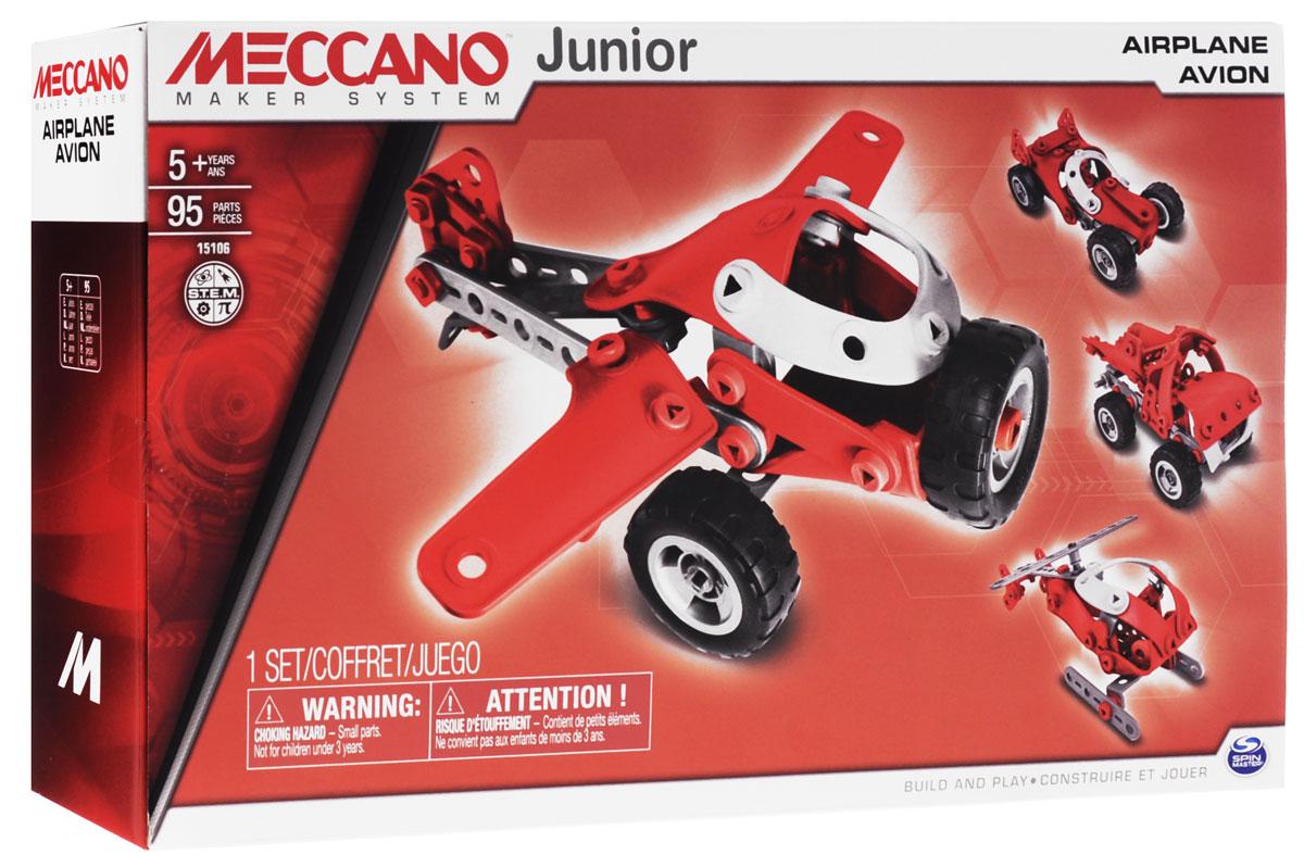 Meccano Конструктор Легкомоторный самолет 4 в 191745Конструктор Meccano Легкомоторный самолет позволит вашему ребенку весело и с пользой провести время. Набор включает в себя 95 деталей из пластика и резины, с помощью которых можно собрать самолет, а также вертолет, самосвал или автомобиль. В набор также входят все необходимые для сборки инструменты и инструкция. Конструктор Meccano Легкомоторный самолет поможет ребенку развить мелкую моторику рук, координацию движений и усидчивость.