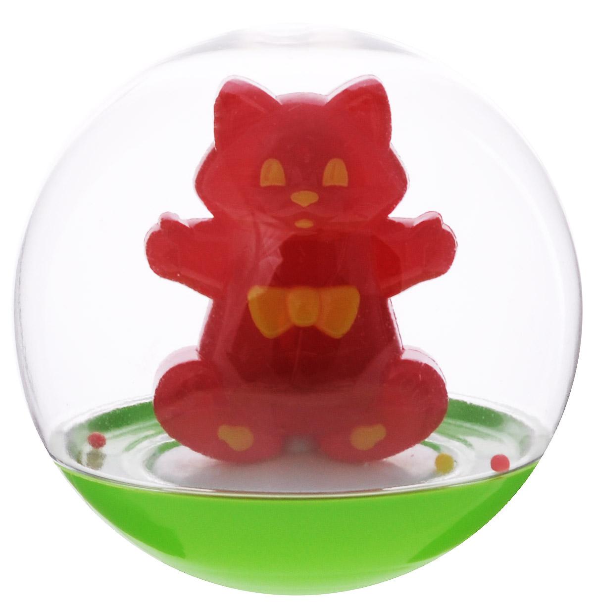 Stellar Погремушка-неваляшка Кот цвет красный1_красный/котПогремушка-неваляшка Stellar Кот не позволит скучать вашему малышу на улице, дома и во время водных процедур. Игрушка выполнена из безопасного и прочного материала в виде симпатичного кота в прозрачном круглом шаре. Неваляшка забавно покачивается под приятный звук погремушки, развлекая малыша. Неваляшка развивает мелкую моторику, координацию, слух и цветовое восприятие.