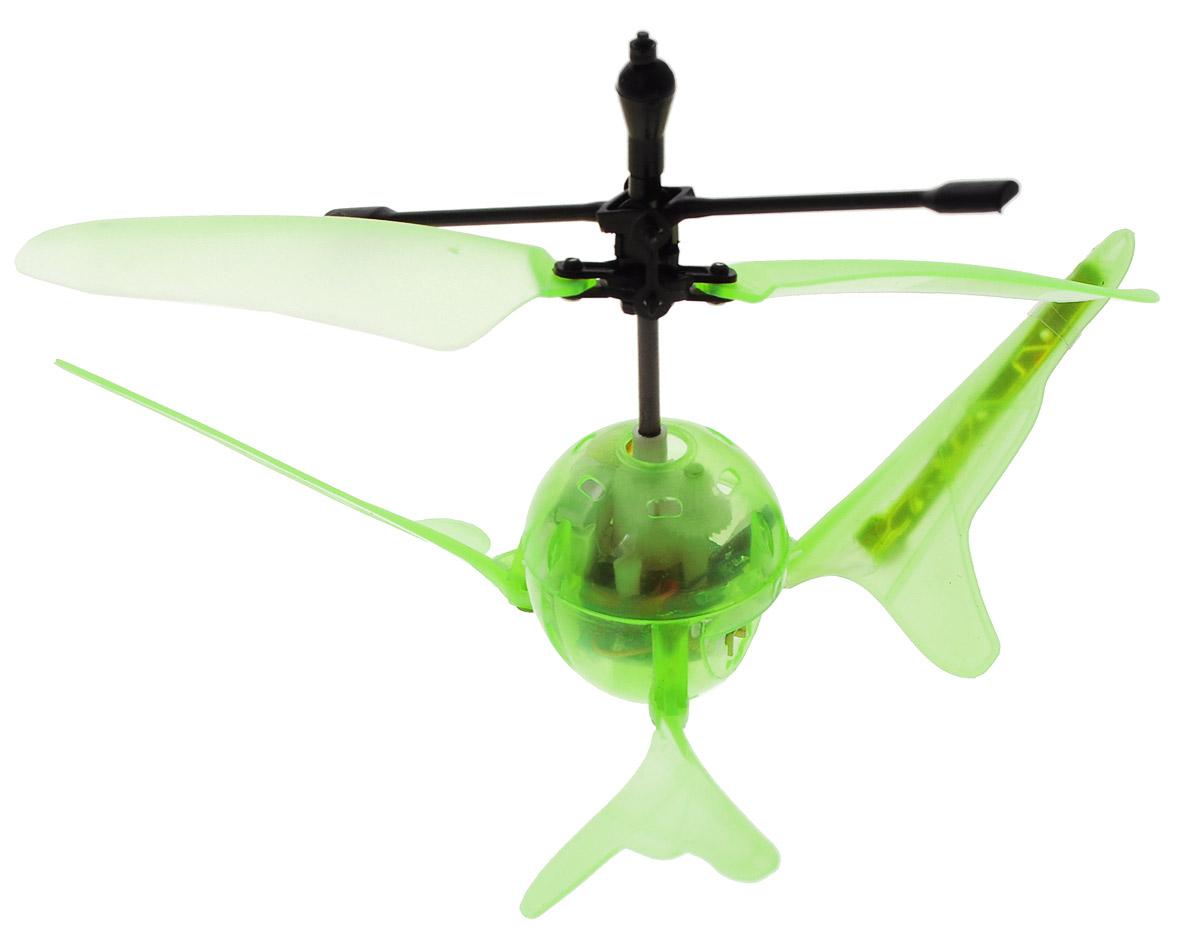 Властелин небес Игрушка на радиоуправлении Супер-светлячок цвет зеленыйBH 1201_зеленыйРадиоуправляемая игрушка Властелин небес Супер-светлячок поразит ваше воображение и обязательно привлечет внимание вашего ребенка. Игрушка выполнена из прочного пластика с элементами из металла. У модели необычная округлая форма и яркие световые эффекты во время полета, поэтому она действительно похожа на светлячка. Игрушка может работать в обычном режиме на инфракрасном управлении и переключаться на сенсорное управление. Во время полета может зависать в воздухе. В темноте изделие выглядит просто потрясающе. Дальность управления - до 10 метров. Полностью заряженная игрушка работает 5-8 минут. Радиоуправляемая игрушка развивает многочисленные способности ребенка - мелкую моторику, пространственное мышление, реакцию и логику. Для работы пульта рекомендуется докупить 3 батарейки типа AG13 (товар комплектуется демонстрационными), для работы зарядного устройства необходимы 8 батареек напряжением 1,5V типа АА (в комплект не входят), игрушка...