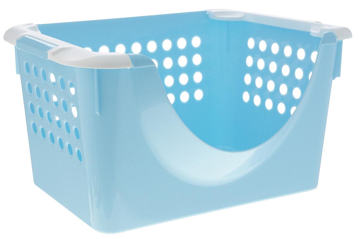 Пластишка Корзина универсальная 42,5 см х 31 см х 23 смС1393902Вместительная корзина Пластишка, выполненная из прочного пластика, предназначена для хранения игрушек, конструкторов, различных предметов для творчества. Позволяет хранить вещи, исключая возможность их потери. Корзина оснащена двумя удобными ручками для переноски, а специальная выемка на одной из сторон корзины позволяет доставать содержимое. Боковые стенки перфорированы.
