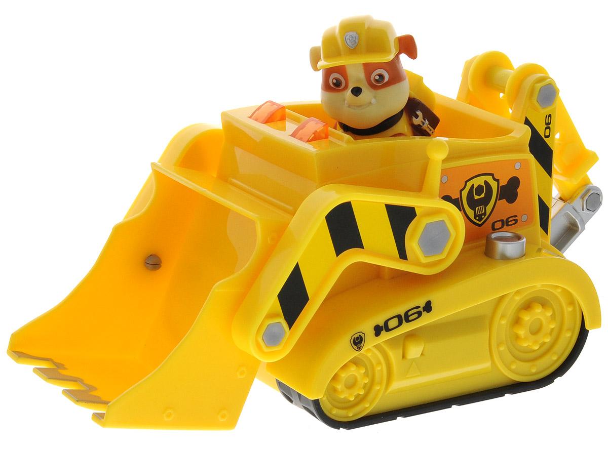 Paw Patrol Большой автомобиль спасателей Rubble16637_RUBBLEИгровой набор Paw Patrol Большой автомобиль спасателей Rubble станет отличным подарком маленьким поклонникам знаменитого мультсериала. В набор входит фигурка Крепыша, одного из щенков-спасателей, и его бульдозер. Мощный бульдозер оборудован поднимающимся ковшом и буром. Специальная кнопка на корпусе машины включает звук двигателя и сигналы, а также фары в передней части кабины. Ваш малыш будет часами играть с этим набором, придумывая разные истории. Сделайте ему такой замечательный подарок! Для работы игрушки необходимы 2 батарейки типа ААА (товар комплектуется демонстрационными).