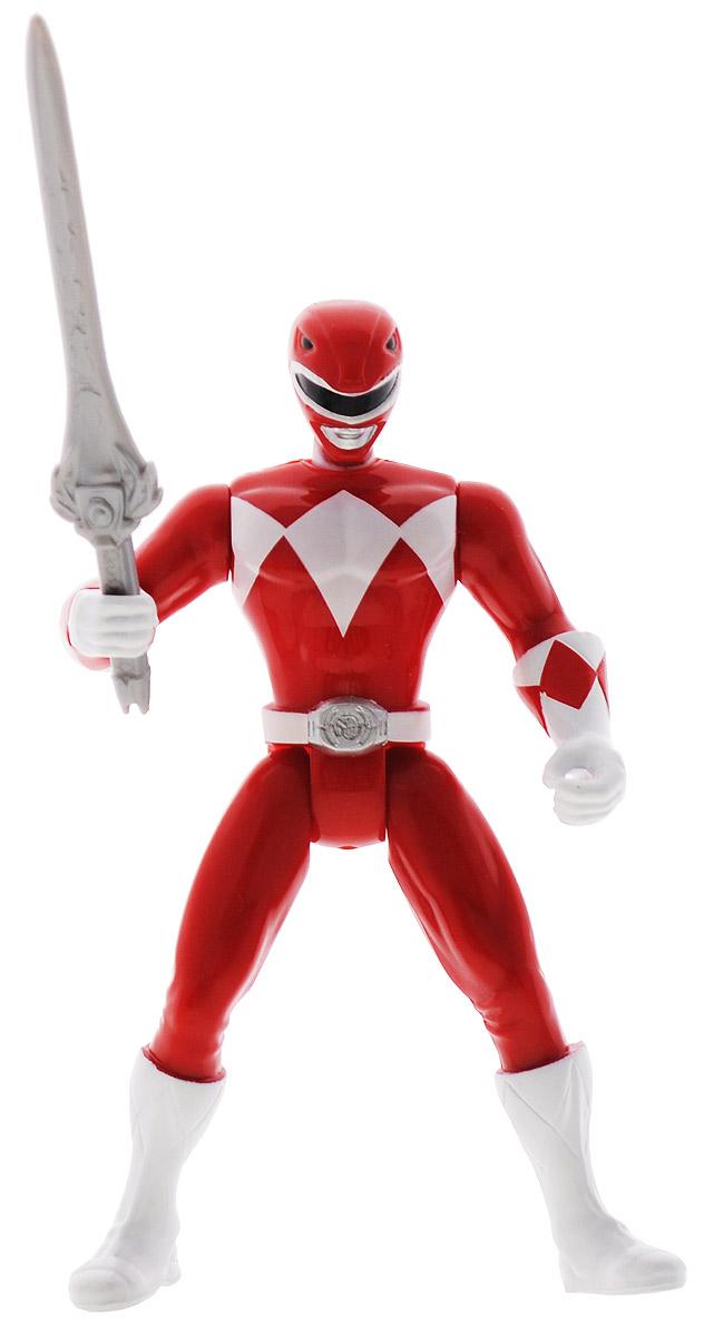 Power Rangers Фигурка Красный рейнджер38160(38168)Фигурка Power Rangers Красный рейнджер станет прекрасным подарком для вашего ребенка. Она выполнена из прочного пластика ярких цветов в виде непревзойденного рейнджера с огромным мечом (в комплекте). Руки и корпус фигурки подвижны, благодаря чему при повороте корпуса руки приходят в движение. Могучие рейнджеры - американский телесериал в жанре токусацу, созданный компанией Saban в 1993 году на основе японского сериала Super Sentai Show. С 2003 года производился компанией Disney. Ваш ребенок будет часами играть с этой фигуркой, придумывая различные истории с участием любимого героя.