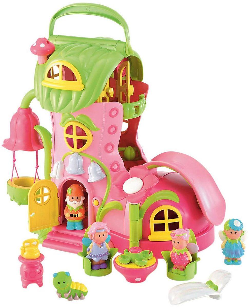 ELC Дом для кукол Домик для фей Волшебный сапожок113399Феи превратили старый ботинок в волшебный домик. Стоит позвонить в дверь, и колокольчики начинают светиться. Язычок ботинка открывается и превращается в горку. В комплекте: мебель, три феи, гном и гусеница. Игрушка повышает способность ребенка мыслить, создавать новые образы, фантазировать. Развивает веру в себя, дает ощущение счастья и чувство собственного достоинства. Комплектуется батарейками АА х 2 шт.