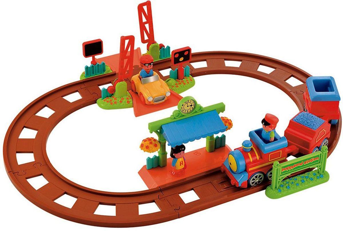 ELC Железная дорога Пригородный поезд118635Железная дорога ELC Пригородный поезд порадует маленького любителя локомотивов и позволит ему побыть в роли ответственного машиниста. Полный вперёд! Комплект из паровоза с тендером и вагоном, спортивной машины, переезда, станции, шести секций рельс и трёх человечков. Поезд поедет, если машиниста посадить в кабину. Железная дорога ELC Пригородный поезд повышает способность ребенка мыслить, создавать новые образы, фантазировать. Развивает веру в себя, дает ощущение счастья и чувство собственного достоинства. Рекомендуется докупить 2 батарейки АА (не входят в комплект).