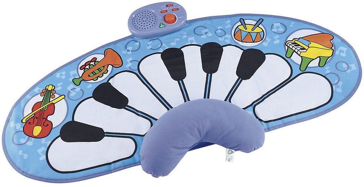 ELC Игровой коврик Музыкальный коврик130667Музыкальный интерактивный коврик станет отличной площадкой для игр вашему малышу! Коврик со звуками: барабана, скрипки, трубы и пианино, не только доставит удовольствие малышам во время игры, но и поспособствует их развитию, позволит больше узнать об окружающем мире. Коврик оснащен 13 сенсорными клавишами. Переведите, игрушку в режим «демо» и малыш познакомится с шестью произведениями классической музыки. Можно использовать с 6 месяцев, положите малыша на животик, удобно подстроив мягкую подушечку, и пусть он хлопает по клавишам ладошками. А, когда карапуз подрастет, можно весело ползать по нему. Дети легко обучаются обращению с ковриком, а мелодии и звуки, которые мат позволяет воспроизводить, способствуют развитию восприятия и творческого музыкального самовыражения. Коврик легко складывается и удобен при переноске и хранении. Для ухода используйте влажную салфетку. Работает от батареек АА х 4шт. (приобретаются отдельно). Размер 100 х 50 см.