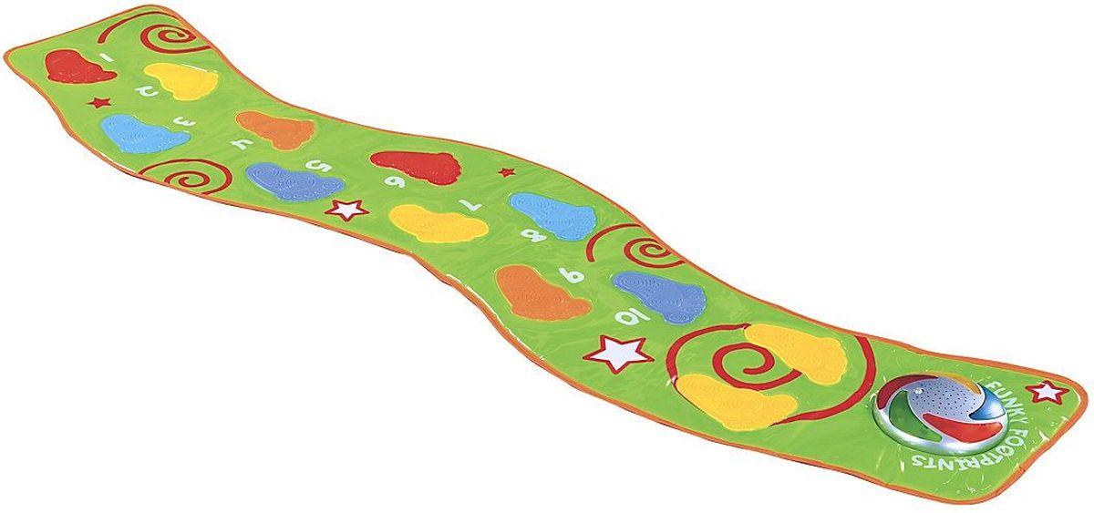 ELC Игровой коврик Музыкальная дорожка130929Игровой коврик Музыкальная дорожка надолго займет вашего малыша. Ребенок может шагать или прыгать по цифрам и следам. При движении по дорожке будут слышны смешные звуки и видны мигающие огоньки. Коврик развивает координацию движений и равновесие, помогает выучить цифры и цвета. Рекомендуется докупить 3 батарейки АА (не входят в комплект).