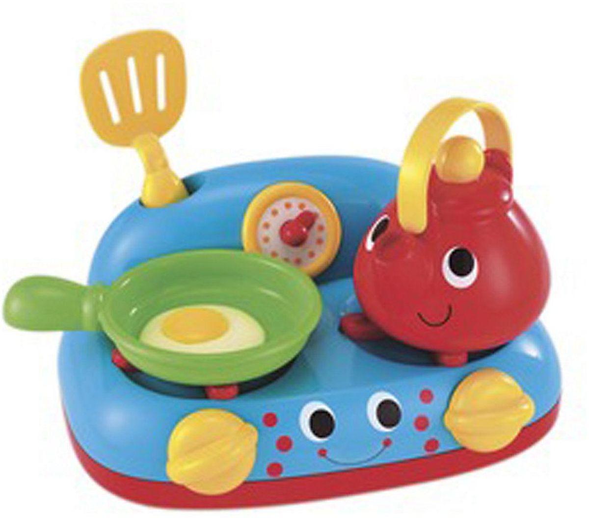ELC Игровой набор Моя первая кухня134253Игровой набор Моя первая кухня - многофункциональная кухня с аксессуарами. Она состоит из варочной поверхности, чайника, сковородки и лопатки. В наборе масса завлекательных звуковых эффектов: на сковородке шипит жаркое, чайник закипает, ручки плиты пощелкивают. Много занятий для маленьких пытливых пальчиков. Если ваш ребенок любит помогать маме на кухне, играть с посудой, варить и жарить, но вам приходится ограничивать его в игре с бьющимися предметами кухонной утвари, то эта детская кухня создана специально для юного поваренка. С такой кухней ваш ребенок сможет устроить для своих игрушек удивительный обед. Порадуйте его таким замечательным подарком! Игровой набор Моя первая кухня научит маленькую хозяйку правильно обращаться с бытовой техникой, и организовывать чаепития. Этот набор развивает фантазию, расширяет кругозор ребенка и помогает развить хозяйственные навыки. Рекомендуется докупить 2 батарейки типа АА (не входят в комплект).
