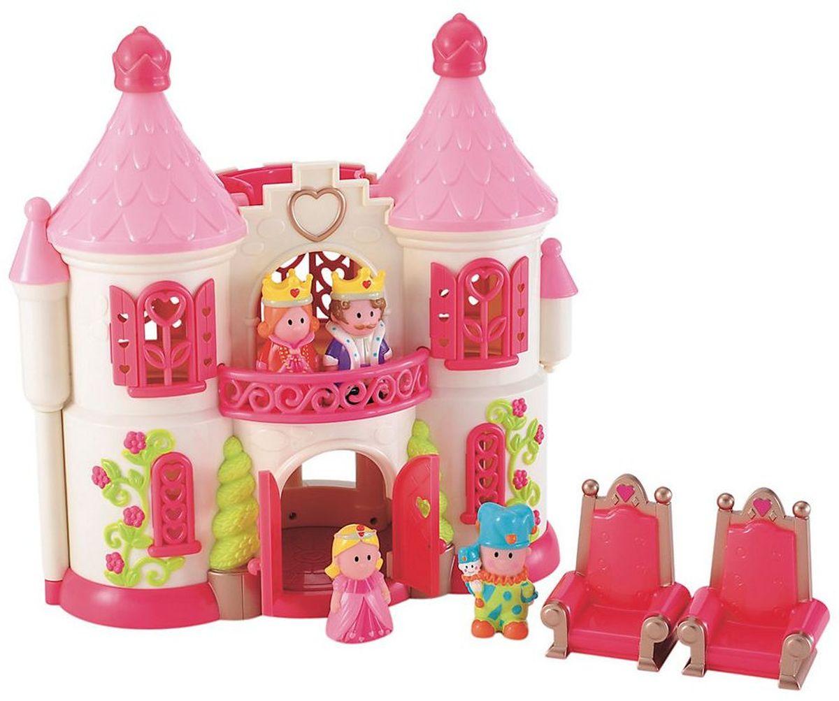 ELC Дом для кукол Сказочный замок с персонажами134471Чудесный сказочный замок ELC станет любимой игрушкой для любой девочки. У замка оригинальные башенки и вензеля, красиво оформленные окна и двери. В наборе имеются предметы мебели. Замок достаточно легкий. Ребенок без труда сможет перенести его при помощи удобной ручки. Чтобы игра стала еще более увлекательной, раскройте замок, и вы увидите роскошь королевского дворца. В набор включены маленькие фигурки обитателей замка. Игра с набором повышает способность ребенка мыслить, создавать новые образы, фантазировать.