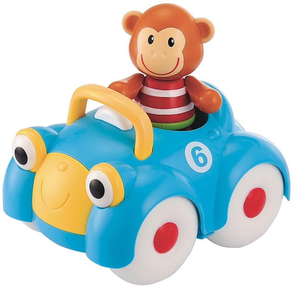 ELC Машинка-игрушка с обезьянкой137041Машинка-игрушка с обезьянкой ELC непременно понравится любому малышу и не позволит ему скучать. Познакомьтесь с обезьянкой Монти и его дружелюбным автомобилем. Ноги, руки и голова фигурки двигаются, издавая негромкие щелчки. Ушки изготовлены из мягкой резины. Посади Монти внутрь и катай машинку по комнате. Красочная игрушка стимулирует ребенка ползать и ходить, развивает воображение.