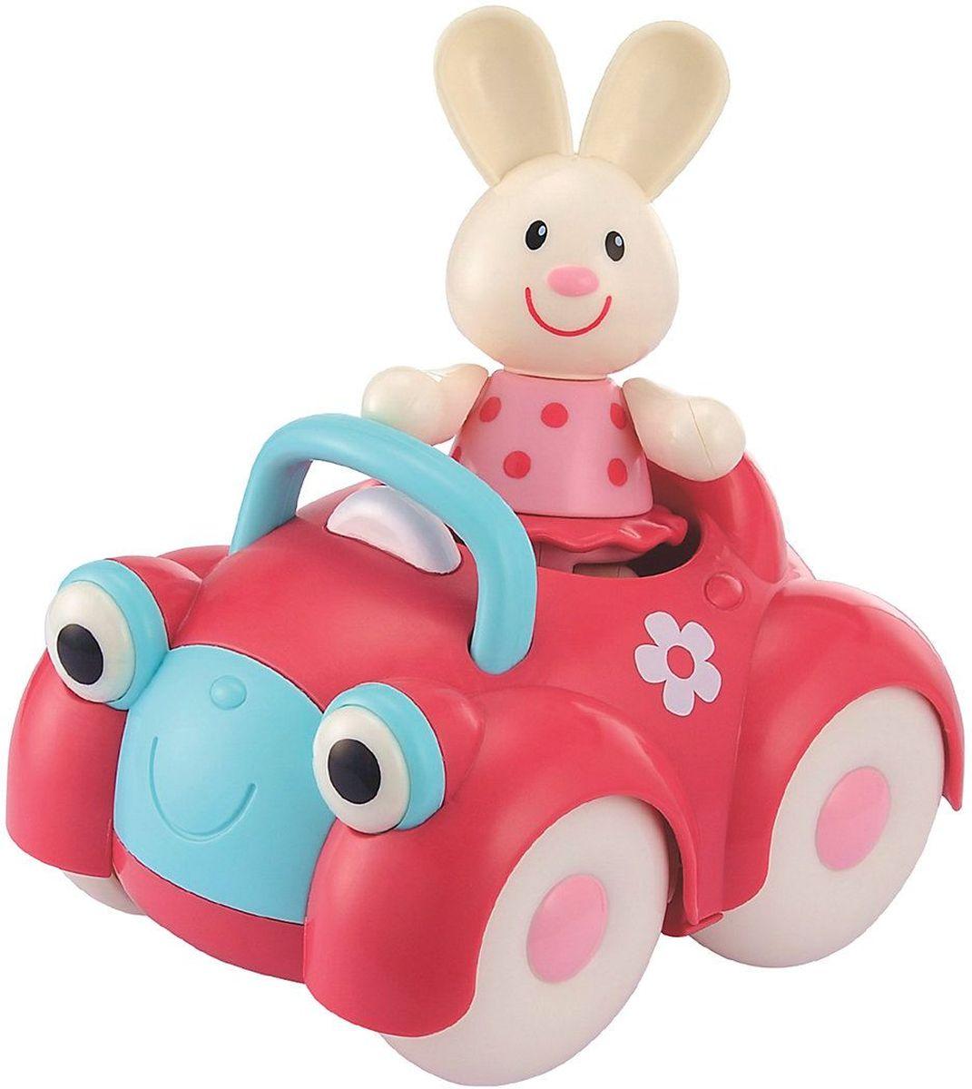 ELC Машинка-игрушка с зайцем137042Машинка-игрушка с обезьянкой ELC непременно понравится любому малышу и не позволит ему скучать. Познакомьтесь с зайчонком Рози и её дружелюбным автомобилем. Ноги, руки и голова фигурки двигаются, издавая негромкие щелчки. Ушки изготовлены из мягкой резины. Посади Рози внутрь и катай машинку по комнате. Красочная игрушка стимулирует ребенка ползать и ходить, развивает воображение.