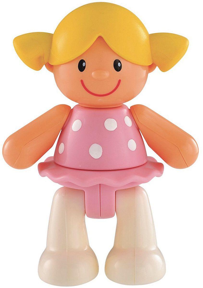 ELC Фигурка Кукла137319Яркая фигурка ELC Кукла обязательно покорит сердце вашего малыша. Симпатичная девочка в розовом платье задорно улыбается. Ноги, руки и голова фигурки двигаются, издавая негромкие щелчки. Прическа изготовлена из мягкой резины. Красочная игрушка прекрасно подходит для развития мелкой моторики и воображения вашего ребенка. Размер фигурки удобен для держания маленькой ручкой. Игрушка изготовлена из качественного безопасного пластика.