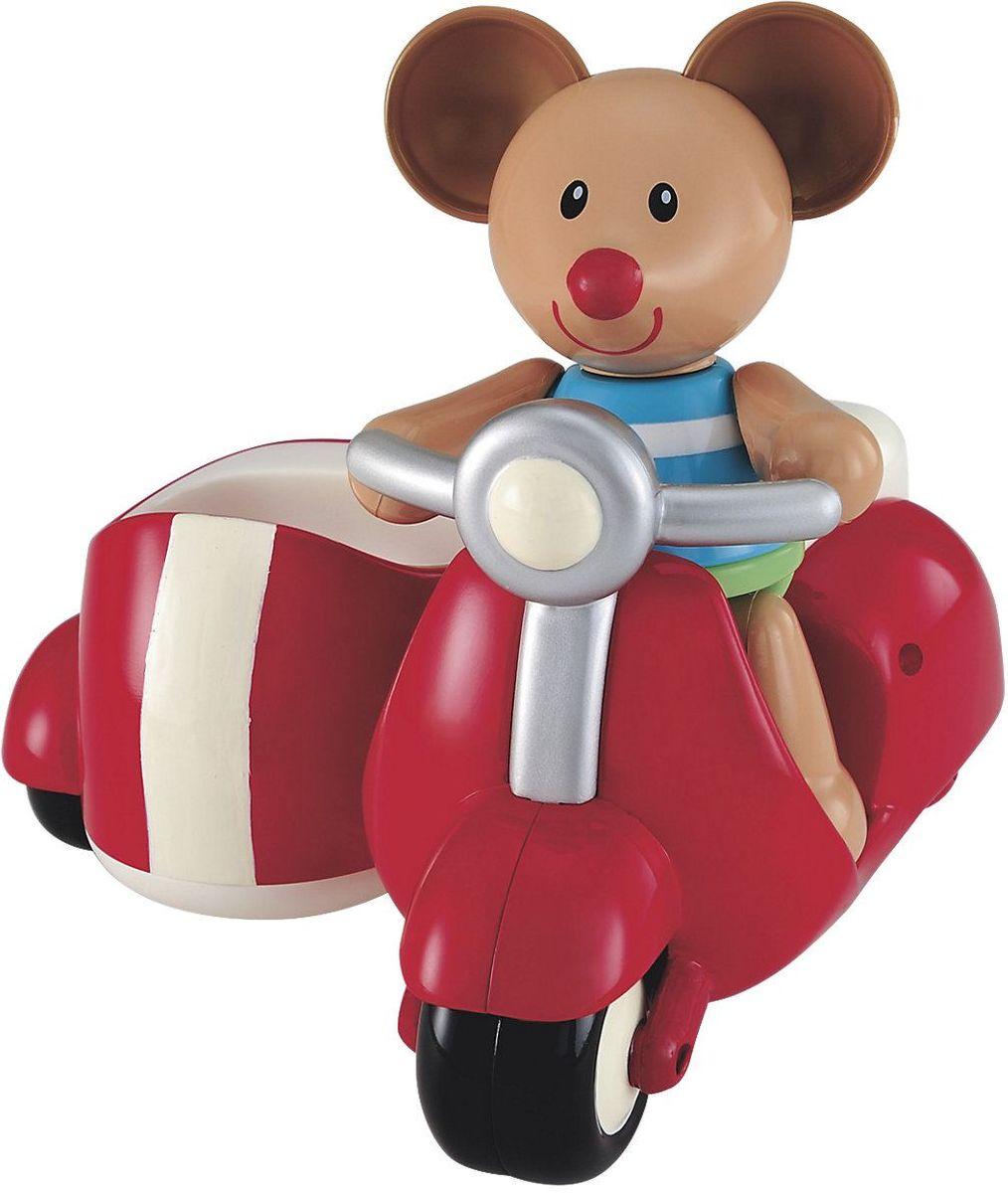 ELC Развивающая игрушка Мышка на скутере цвет красный138965Красочная развивающая игрушка ELC Мышка на скутере несомненно порадует каждого ребенка. Ноги, руки и голова мышки двигаются (раздаются щелчки), а ушки сделаны из мягкой резины. Игрушка прекрасно подходит для развития мелкой моторики и воображения ребенка. Удобна для держания маленькой детской ручкой.