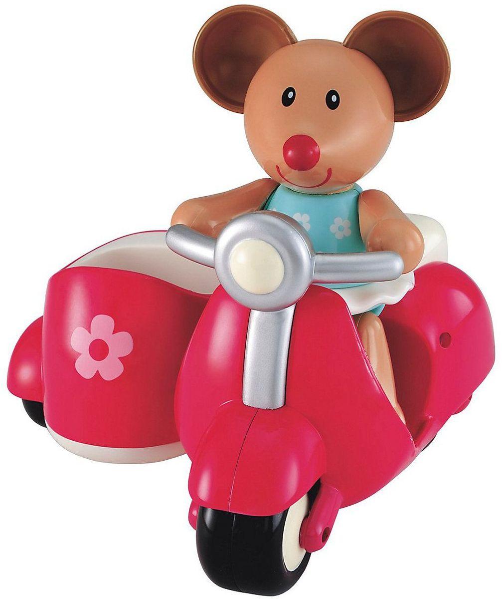ELC Развивающая игрушка Мышка на скутере цвет розовый138973Красочная развивающая игрушка ELC Мышка на скутере несомненно порадует каждого ребенка. Ноги, руки и голова мышки двигаются (раздаются щелчки), а ушки сделаны из мягкой резины. Игрушка прекрасно подходит для развития мелкой моторики и воображения ребенка. Удобна для держания маленькой детской ручкой.