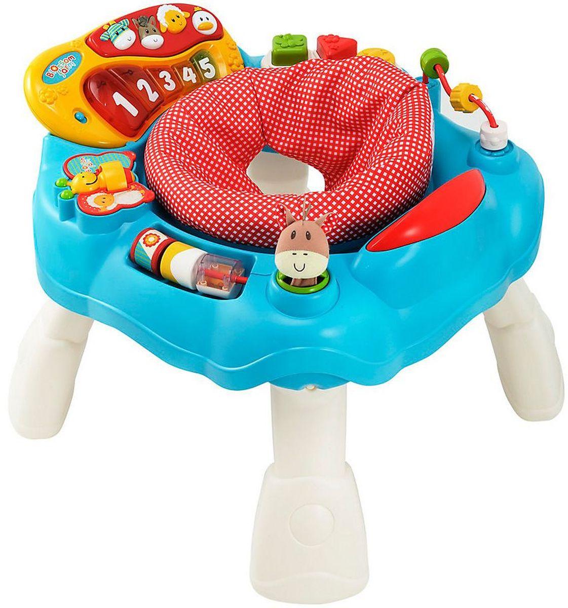 ELC Игровой центр Цветочная ферма140072Яркий игровой развивающий центр ELC обязательно понравится вашему малышу и доставит ему массу положительных эмоций. Игровой набор ELC - это оригинальная версия развивающего столика со встроенными игрушками. На поверхности столика: клавиатура с пятью веселыми мелодиями и звуками животных, книжечка-бабочка, безопасное зеркальце, бусы, сортер и погремушка. Сравнивая цвет и размер разнообразных игрушек, ребенок развивает визуальное восприятие. Посредством различных действий - нажать, потянуть, удержать - ребенок тренирует координацию рук и глаз, мелкую моторику. Благодаря небольшому весу и съемным ножкам центр очень удобен для транспортировки. Рекомендуется докупить 2 батарейки АА (не входят в комплект).