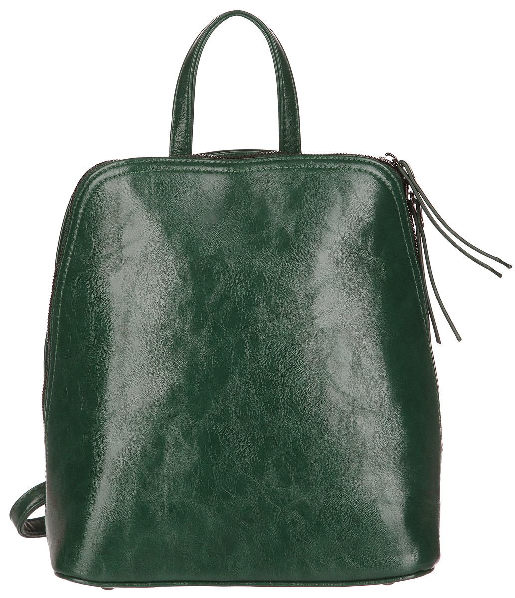Рюкзак женский Ors Oro, цвет: темно-зеленый. D-135D-135Рюкзак выполнен из экокожи. Изделие закрывается застежку-молнию с двумя бегунками. На лицевой стороне изделия - втачной карман на застежке-молнии. Внутри - большое отделение, которое дополнено одним втачным карманом на застежке-молнии и двумя не большими накладными кармашками для телефона и разных мелочей. Изделие оснащено удобными плечевыми лямками, которые регулируются по длине. В случае необходимости лямки можно отстегнуть. В этом сезоне этот модный аксессуар поможет вам быть в тренде!
