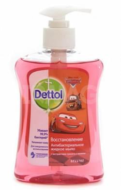 Жидкое мыло Dettol Восстановление, с Декор Элем М, с экстрактами граната и малины, 250 мл