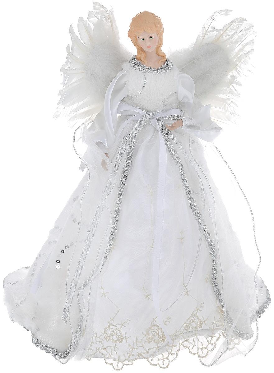 Кукла декоративная Ангел, высота 41 см75090Великолепная кукла Ангел, изготовленная из высококачественного фарфора, займет достойное место в вашей коллекции. Кукла, выполненная в виде ангела, одета в роскошное платье, украшенное пайетками и искусственным мехом. Благодаря устойчивому основанию вы можете поставить ее в любом понравившемся вам месте. Такая фигурка станет чудесным подарком на Новый год.