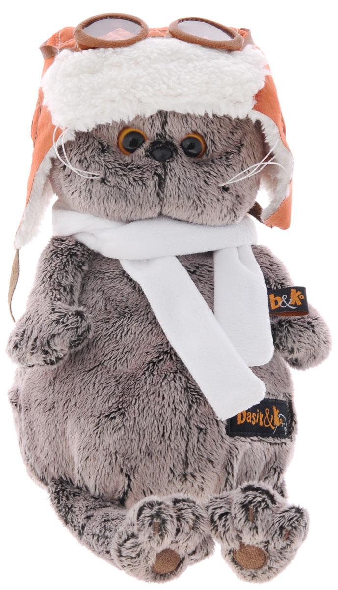 Мягкая игрушка Басик в шлеме и шарфе 25 смKs25-009Мягкая игрушка Басик в шлеме и шарфе подарит малышу немало прекрасных мгновений. Дети очень трепетно относятся к домашним животным, особенно они любят котов и собак и часто просят своих родителей приобрести им такого друга. Однако домашние питомцы не всегда хорошо влияют на детей - они могут поцарапать и даже вызвать аллергическую реакцию, поэтому приходят на помощь мягкие игрушки, очень похожие на настоящих питомцев. С этим шотландским вислоухим котиком можно играть, отдыхать и засыпать в обнимку, рассказывая свои секреты. У него густая плюшевая шерстка, которую так приятно гладить. У Басика круглые медовые глазки, маленькие ушки и черный носик. Кот в летном шлеме из рыжей искусственной замши на белом меху. В комплекте - длинный белоснежный шарфик. Мягкие игрушки очень полезны для малышей, потому что весьма позитивно влияют на детскую нервную систему, прогоняя всевозможные страхи. Играя, малыш развивает фантазию и воображение, развивает тактильную...