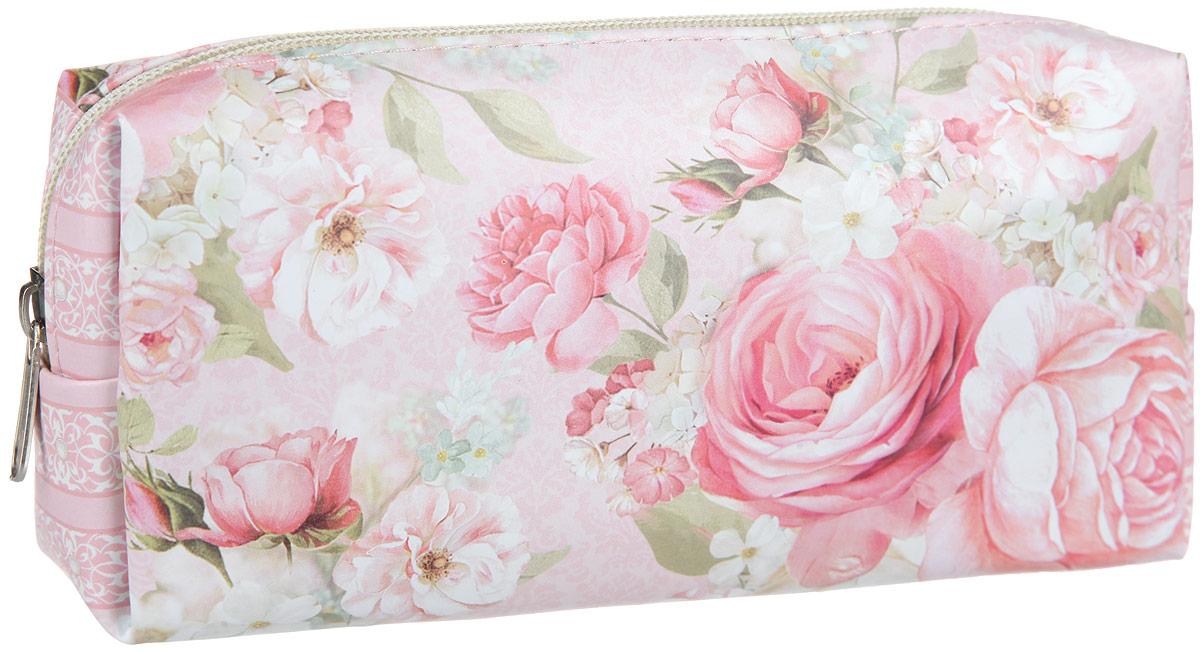 """Косметичка Феникс-презент """"Розы"""", цвет: розовый. 33827"""