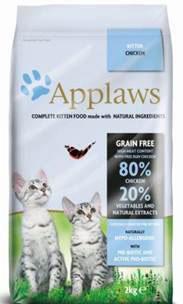 Беззерновой для Котят Курица/Овощи: 80/20% (Dry Cat Kitten), 2 кг24394Беззерновая линейка Холистик кормов для кошек Applaws изготовлена по особым рецептам, разработанными диетологами института Великобритании. Правильная диета очень важна для питомцев, ведь она меняется в зависимости от жизненного цикла. Также полнорационные корма должны включать в себя необходимое количество витаминов и минералов. В рецептах сухих кормов Applaws учтен не только перечень наиболее необходимых минералов и витаминов, но и их строгий баланс. Так как сухой корм изготавливается только из натуральных качественных ингредиентов, крокеты привлекут внимание любого, даже очень привередливого питомца. Состав: Дегидрированное мясо цыпленка (мин. 58%), молодой картофель (мин. 10%), мелкорубленное свежее филе цыпленка (мин. 9%), жир домашней птицы (мин. 7% - источник омега 6), подлива с мяса птицы приготовленной в собственном соку (мин. 3%), свекла (мин. 3%), яичный порошок (мин. 3%), лососевый жир (мин. 2,6% - источник Омега 3, EPAи DHA), пивные...
