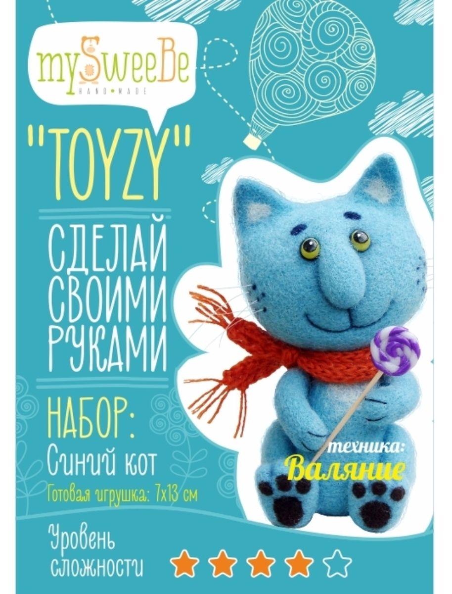 Toyzy Набор по валянию Синий котTZ-F004Набор по валянию TOYZY «Синий кот» позволяет любому повысить навыки и умения в технике сухого валяния, и при этом самостоятельно сделать игрушку с уникальным авторским дизайном по авторской методике. Особенность набора в том, что он максимально укомплектован, вам не нужно ничего дополнительно докупать. В наборе цветная инструкция с пошаговыми фотографиями, на которых детально запечатлен процесс создания игрушки, иглы для валяния, шерсть нужных оттенков, акриловая краска черная/белая, кисть, суперклей тюбик, пряжа для шарфа, нитки черные и голубые, леска, полимерная глина 3х оттенков, шило, ватная палочка, большая игла для шитья, спицы, зубочистка. Размер готовой игрушки: 7*13 см. С наборами TOYZY легко научиться новому виду рукоделия или повысить уже имеющийся уровень мастерства.