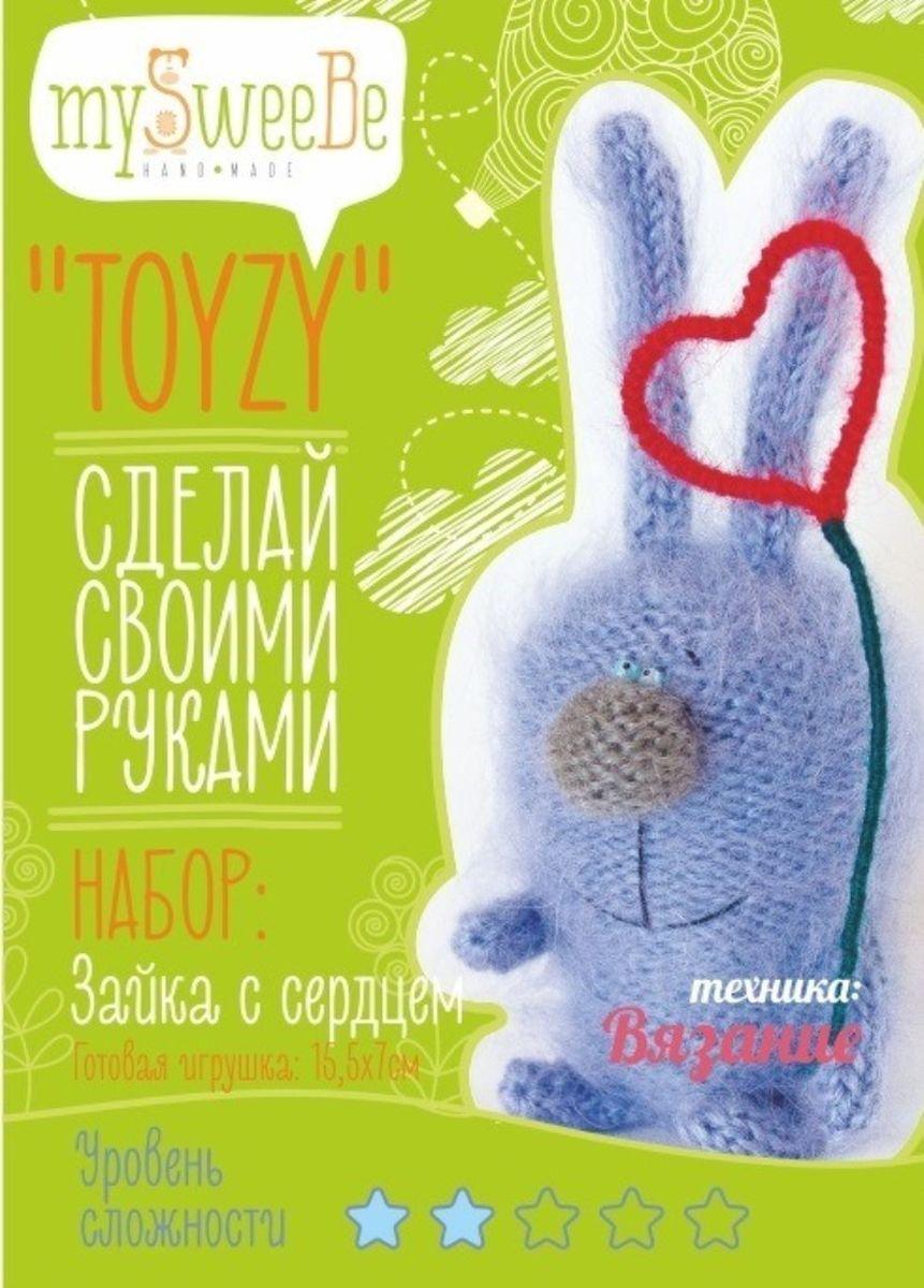 Toyzy Набор по вязанию Зайка с сердцемTZ-K004Набор по вязанию TOYZY позволяет любому освоить технику вязания и самостоятельно связать игрушку с уникальным авторским дизайном по авторской методике.Особенность набора в том, что он максимально укомплектован, вам не нужно ничего дополнительно докупать. В каждом наборе цветная инструкция с пошаговыми фотографиями, на которых детально запечатлен процесс создания игрушки, спицы, пряжа для всех элементов игрушки, бисер для глаз/аксессуаров, нитки, наполнитель холлофайбер. В наборах «Котофея», «Грустик», «Зайка с сердцем» также есть проволока, лента для цветка, бусина для волшебной палочки, мелок для дизайна мордочки в наборе «Обезьянка».С наборами TOYZY легко научиться новому виду рукоделия или повысить уже имеющийся уровень мастерства.
