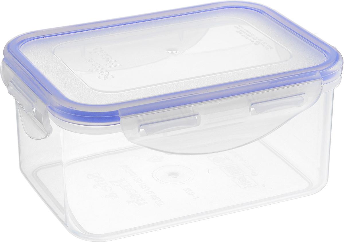 Контейнер пищевой Tek-a-Tek, 470 млSF2-2Пищевой контейнер Tek-a-Tek выполнен из высококачественного пластика. Изделие оснащено четырехсторонними петлями-замками и силиконовой прокладкой на внутренней стороне крышки. Это позволяет воде и воздуху не попадать внутрь, сохраняется герметичность. Изделие абсолютно нетоксично при любом температурном режиме. Можно использовать в посудомоечной машине, а так же в микроволновой печи (без крышки), замораживать до -20°С и размораживать различные продукты без потери вкусовых качеств.