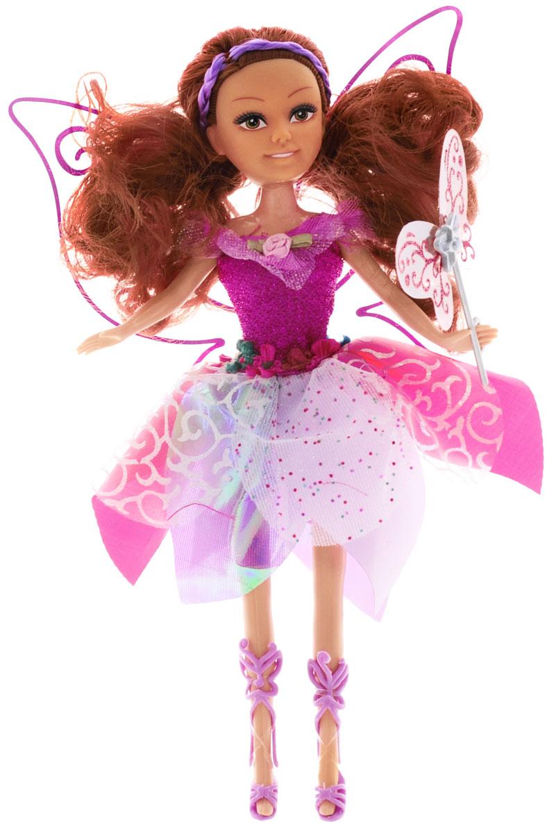 ABtoys Кукла Волшебная мелодия в малиновом платье240347_малиновыйВеликолепная кукла ABtoys Волшебная мелодия обязательно порадует вашу малышку и доставит ей много удовольствия от часов, посвященных игре с ней. Куколка одета в шикарное малиновое платье, украшенное блестками и декоративными цветами, а за спиной у нее - большие полупрозрачные крылья. Ножки, голова и ручки куколки подвижны. Вашей дочурке непременно понравится расчесывать и заплетать длинные каштановые волосы куклы. При нажатии на кнопку на животике куклы раздастся волшебная мелодия. Вместе с куклой в наборе предлагается волшебная палочка. Brilliance Fair - милые подружки! Эти девочки могут развлекаться и никогда не устают друг от друга! Их невероятно привлекательные наряды делают их абсолютными королевами любой вечеринки! Кукла станет настоящей подружкой для своей юной обладательницы! Порадуйте свою малышку таким великолепным подарком! Для работы игрушки рекомендуется докупить 3 батарейки типа LR44 (товар комплектуется демонстрационными).
