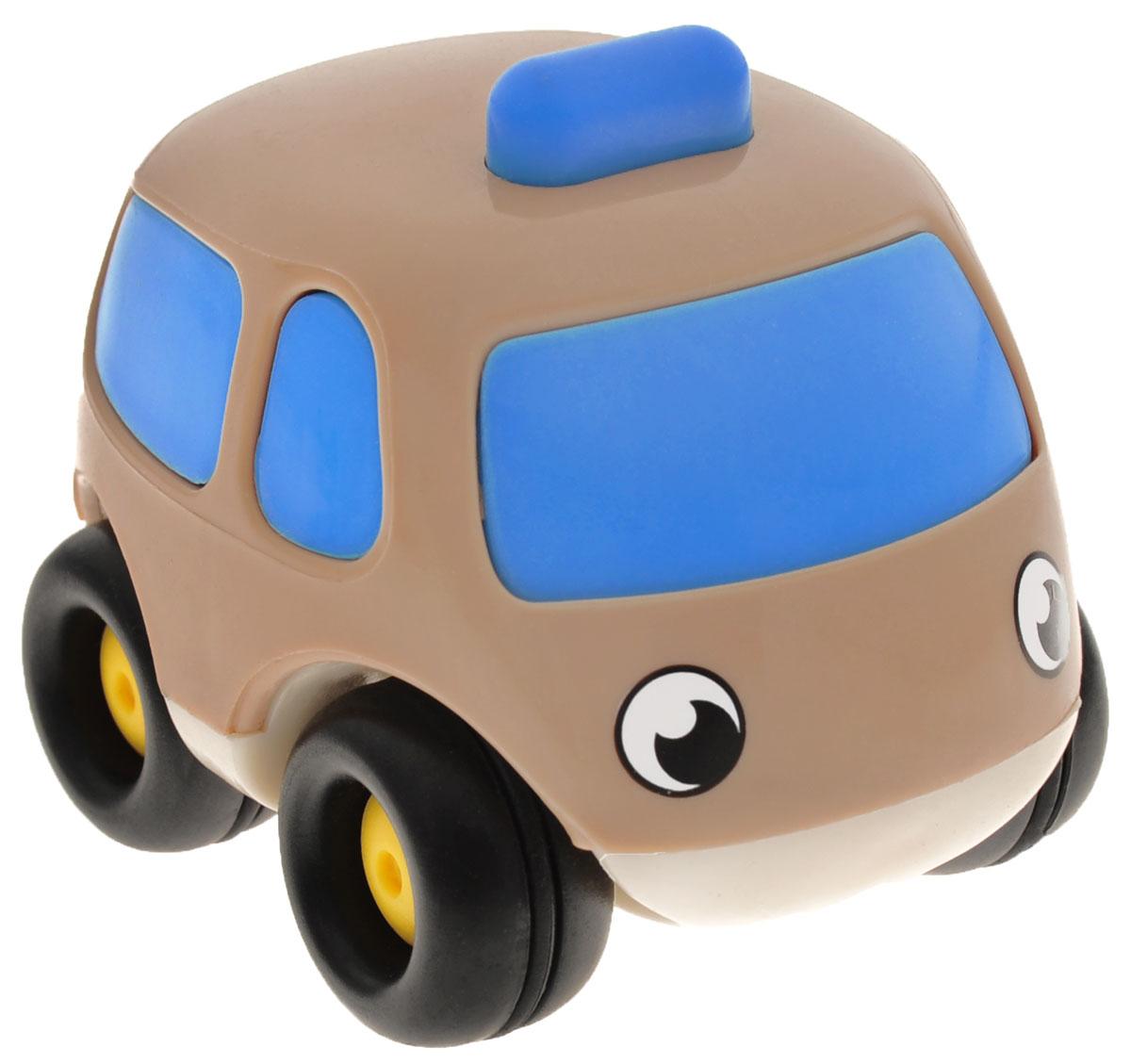 Smoby Мини-машинка Vroom Planet цвет коричневый голубой750030_коричневый, голубойМини-машинка Smoby Vroom Planet привлечет внимание вашего ребенка и надолго останется его любимой игрушкой. Плавные формы без острых углов, яркие цвета - все это выгодно выделяет эту игрушку из ряда подобных. Машинка оснащена инерционным механизмом. Просто подтолкните машинку, и она поедет сама. Машинка развивает концентрацию внимания, координацию движений, мелкую моторику рук, цветовое восприятие и воображение. Малыш будет часами играть с этой машинкой, придумывая разные истории.