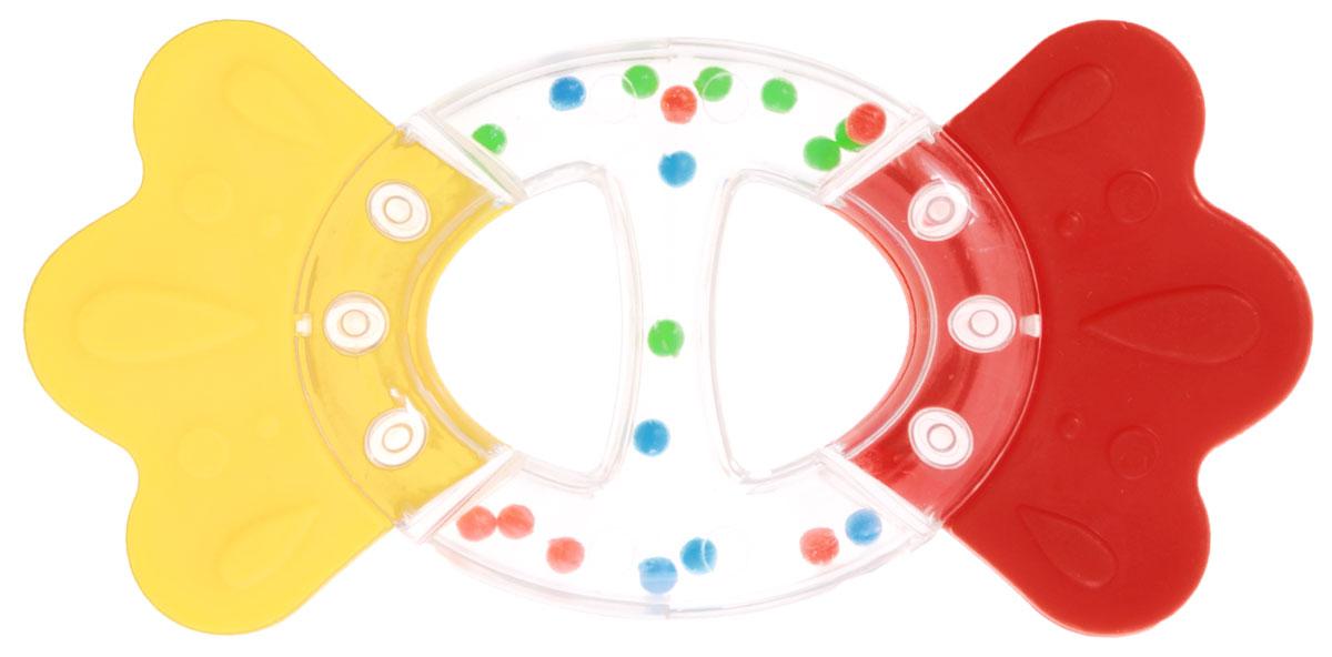 Stellar Погремушка-прорезыватель Бантик цвет желтый красный