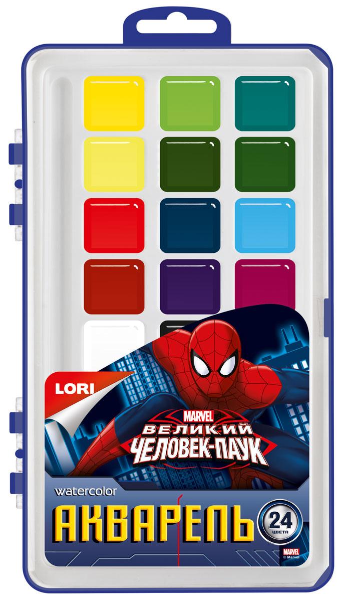 Lori Акварель MARVEL в пластике Человек-паук. 24 цв